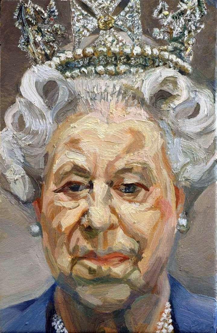 الملكة إليزابيث الثانية   لوسيان فرويد