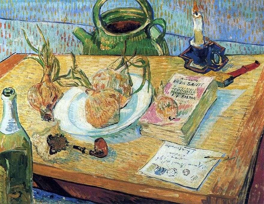 لا تزال الحياة مع لوحة القوس والرسم   فنسنت فان جوخ