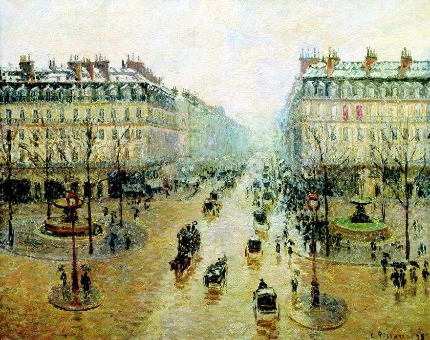 أوبرا السفر في باريس. تأثير الثلج. الصباح   كميل بيسارو