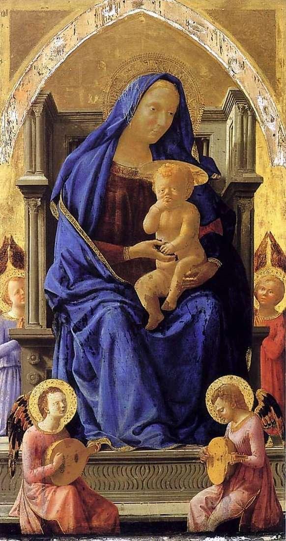 مادونا والطفل مع الملائكة   توماسو دي جيوفاني ماساتشو