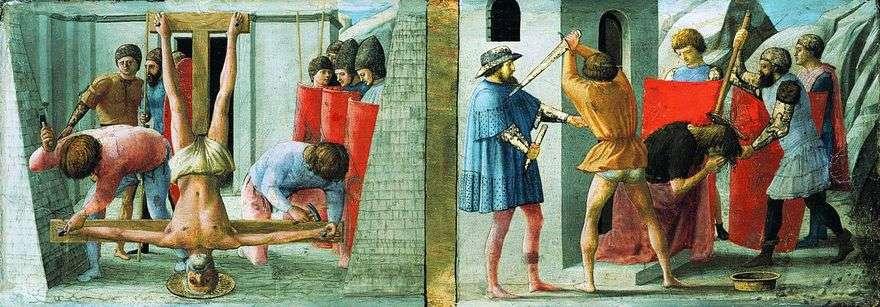 صلب بطرس وقطع رأس يوحنا المعمدان   ماساكو
