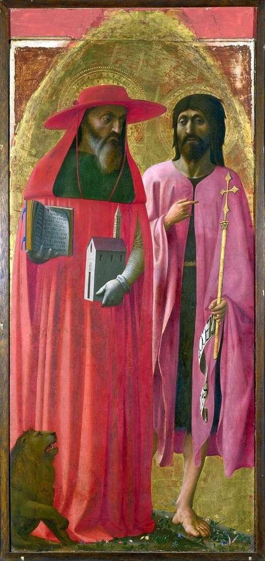 القديسين جيروم وجون المعمدان   توماسو دي جيوفاني ماساتشو