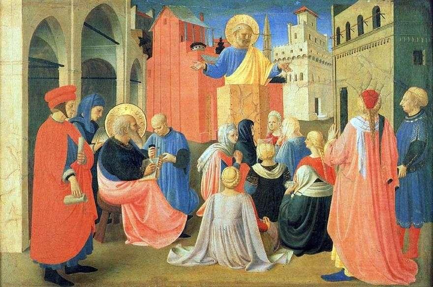 القديس بطرس يملي الإنجيل على القديس مارك   فرا بيتو أنجيليكو