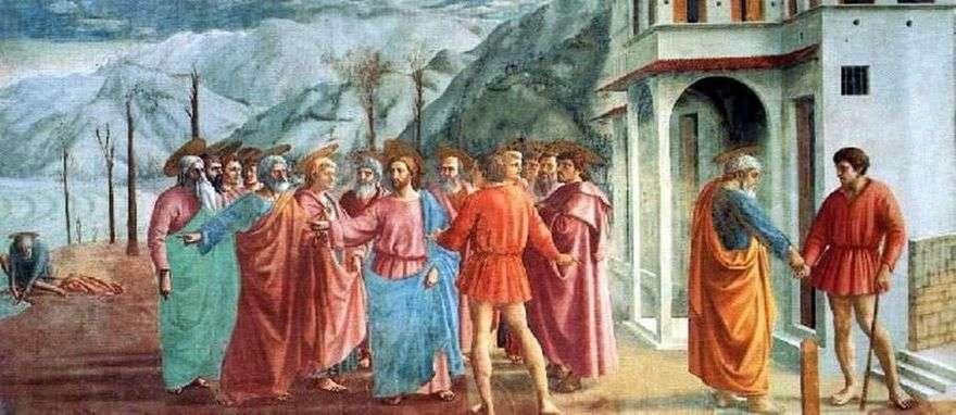 معجزة مع statir (دفع الضرائب)   Masaccio