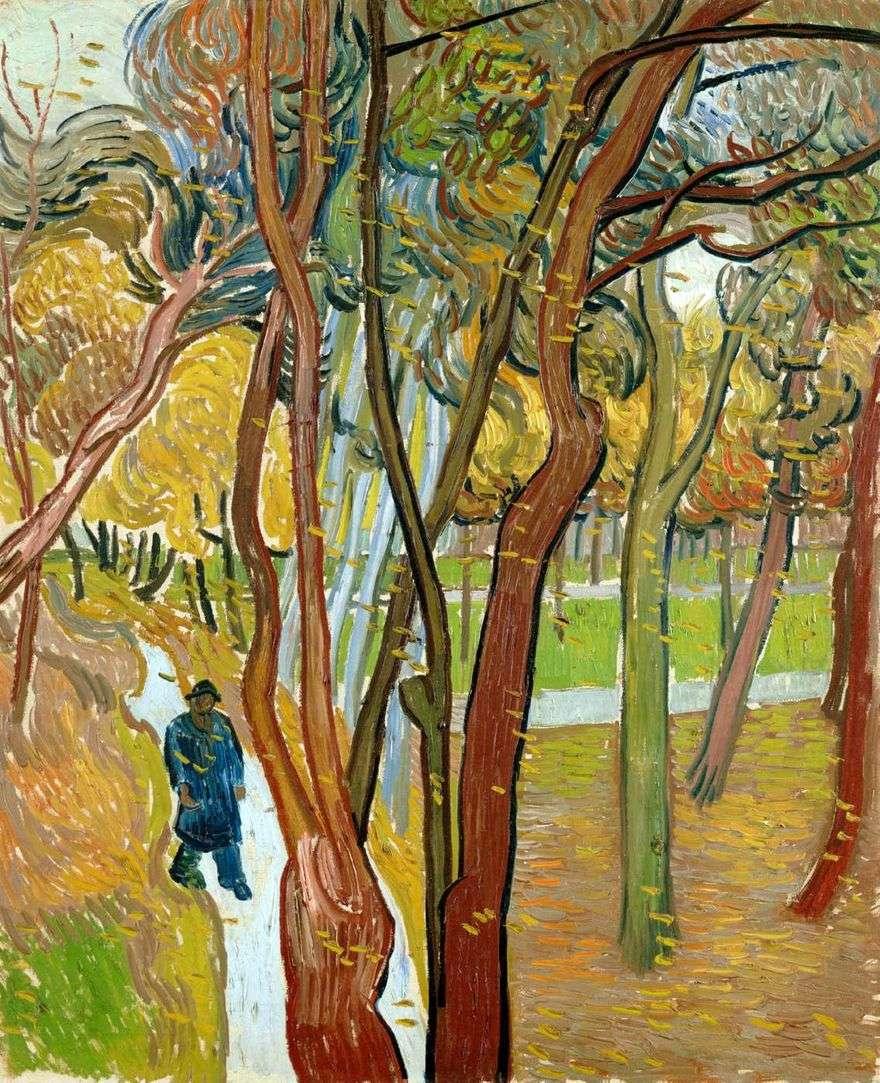 الخريف أوراق الخريف ، المشي   فنسنت فان جوخ