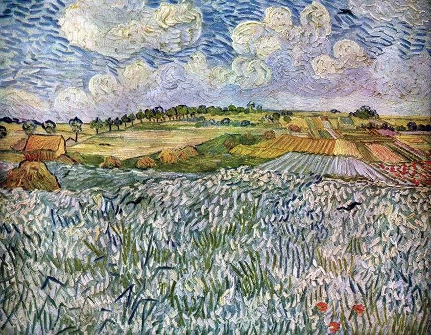 منظر طبيعي بالقرب من أوفر: حقول القمح   فنسنت فان جوخ