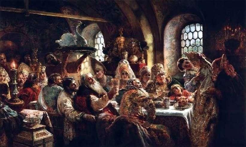 حفل زفاف Boyarsky من القرن السابع عشر   كونستانتين ماكوفسكي