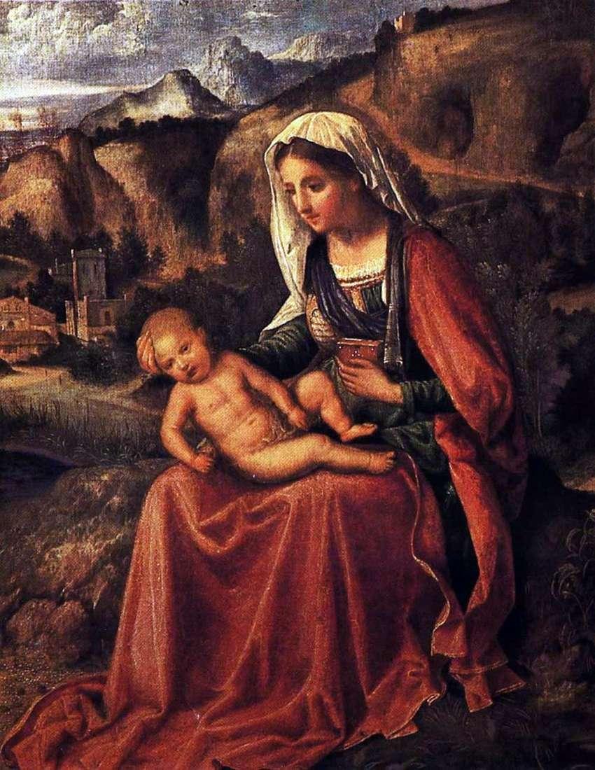 مادونا والطفل في المناظر الطبيعية   جورجي بارباريلي دا Castelfranco