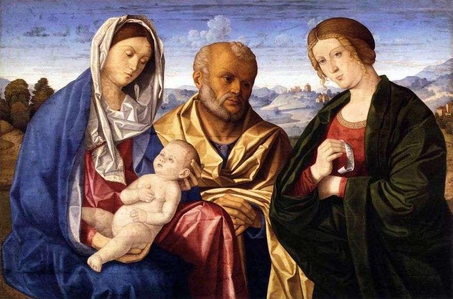العائلة المقدسة مع الزوجة المقدسة   فينشنزو كاتينا