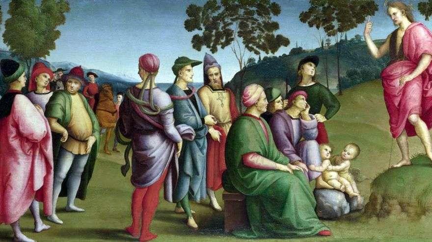 عظة القديس يوحنا المعمدان   رافائيل سانتي