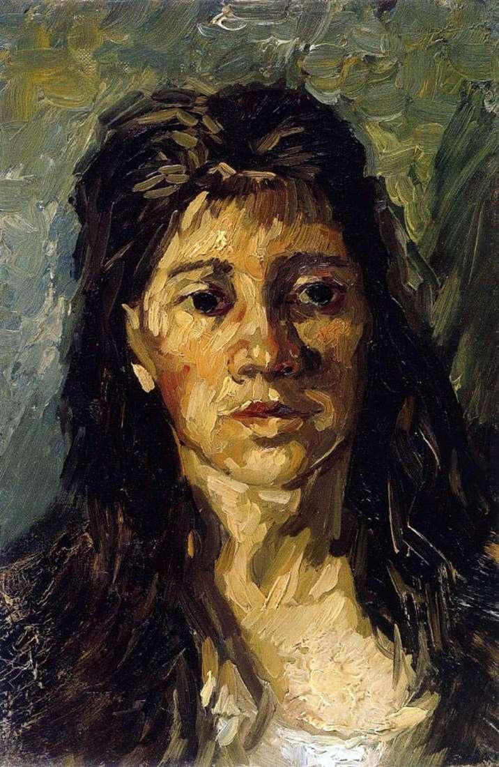 صورة لامرأة مع شعرها   فنسنت فان جوخ