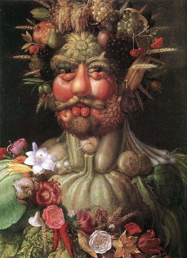 صورة للإمبراطور رودولف الثاني   جوزيبي أرشيمبولدي