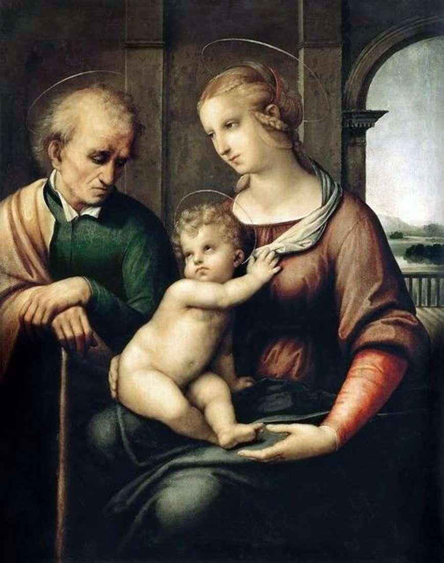 العائلة المقدسة أو مادونا مع جوزيف بيرلس   رافائيل سانتي