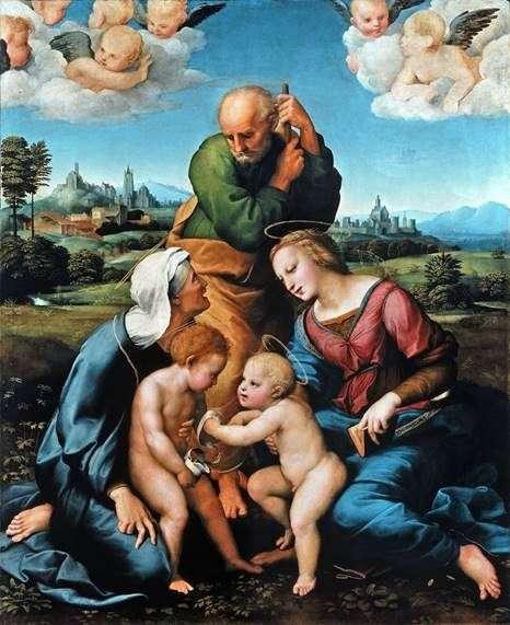العائلة المقدسة كانيشاني   رافائيل سانتي