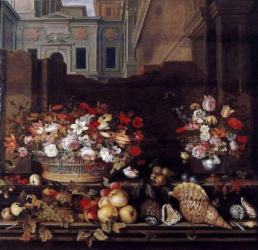 لا تزال الحياة مع الزهور والفواكه والأصداف   Balthazar van der Ast