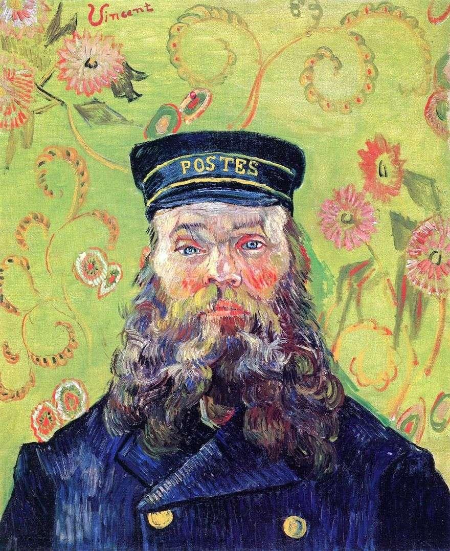 صورة لساعي البريد جوزيف رولان الثالث   فنسنت فان جوخ