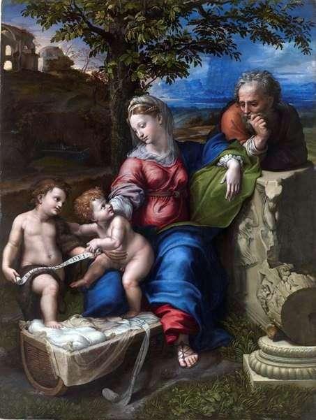 العائلة المقدسة تحت البلوط   رافائيل سانتي