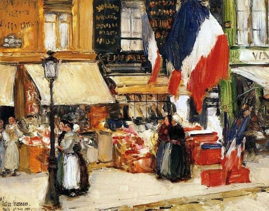 يوم الباستيل ، باريس   الطفل حسن