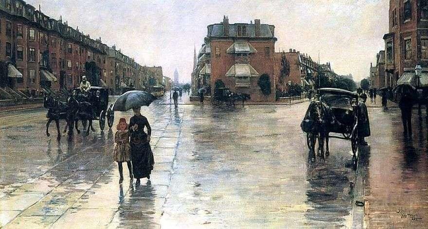 يوم ممطر في بوسطن   الطفل حسام