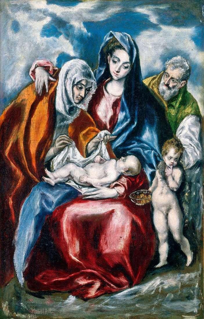 العائلة المقدسة مع سانت آن   إل جريكو