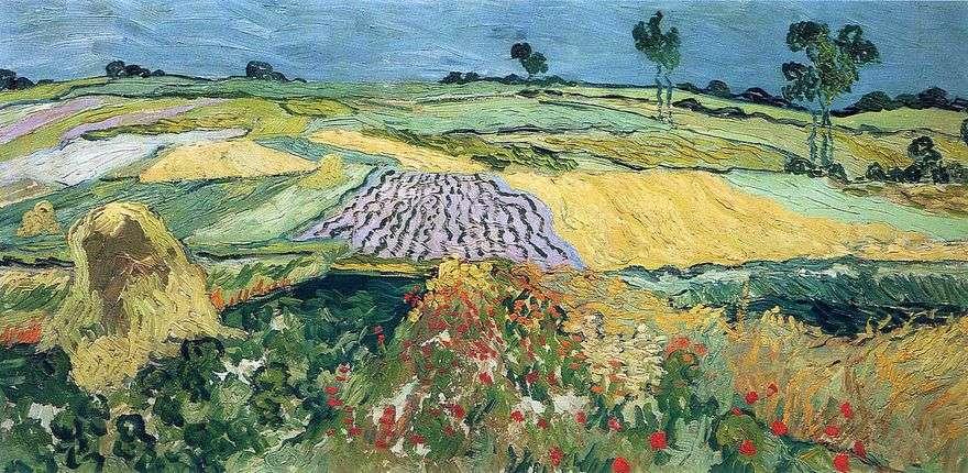 حقول القمح ، سهل فوق   فنسنت فان جوخ