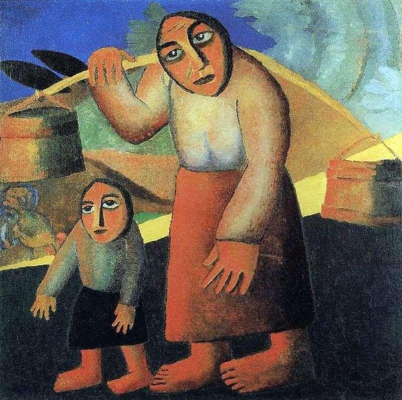 امرأة فلاحية مع دلاء   كازيمير ماليفيتش