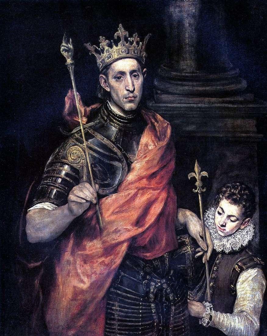 سانت لويس ، ملك فرنسا ، والصفحة   جريكو
