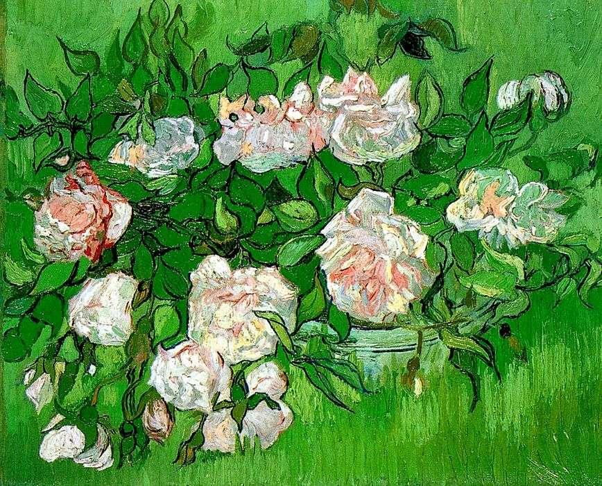 الورود الوردية   فنسنت فان جوخ