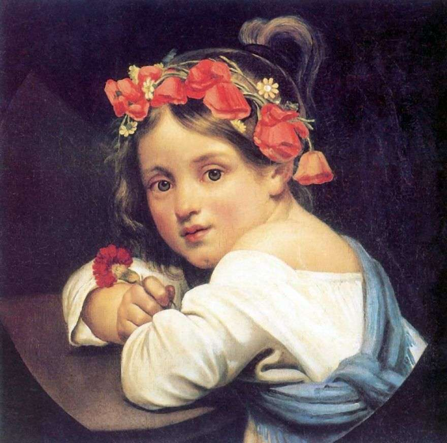 الفتاة في إكليل الخشخاش   أوريست كيبرنسكي