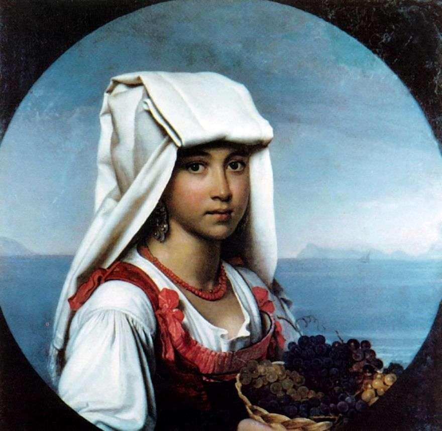 فتاة نابولي مع الفواكه   أوريست كيبرنسكي