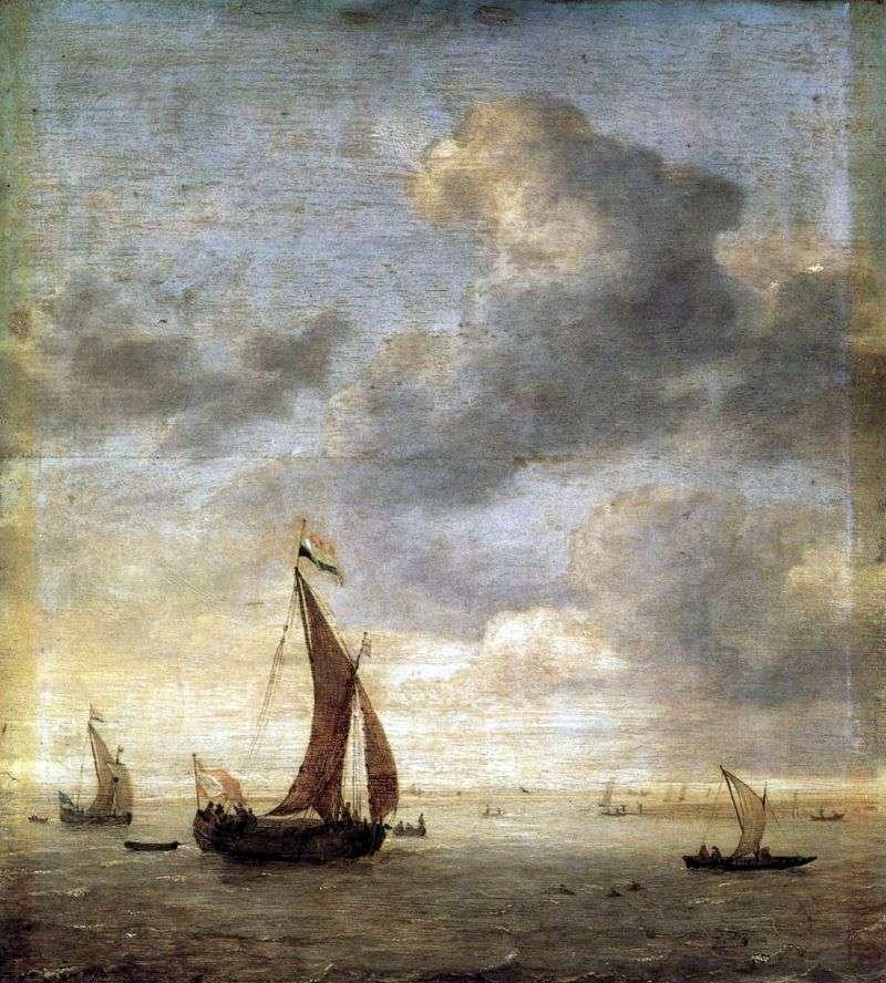 الإبحار على البحر في يوم عاصف   يان بورسيليس