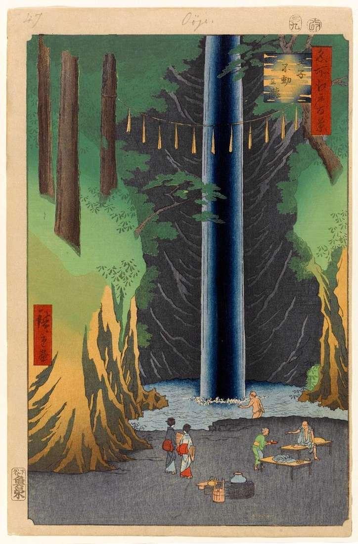 فودو الشلال ، ولكن لا يزال في أوجي   Utagawa هيروشيغه