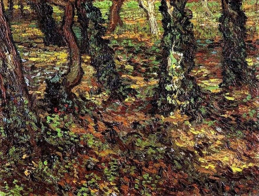 جذوع الشجرة مع اللبلاب   فنسنت فان جوخ