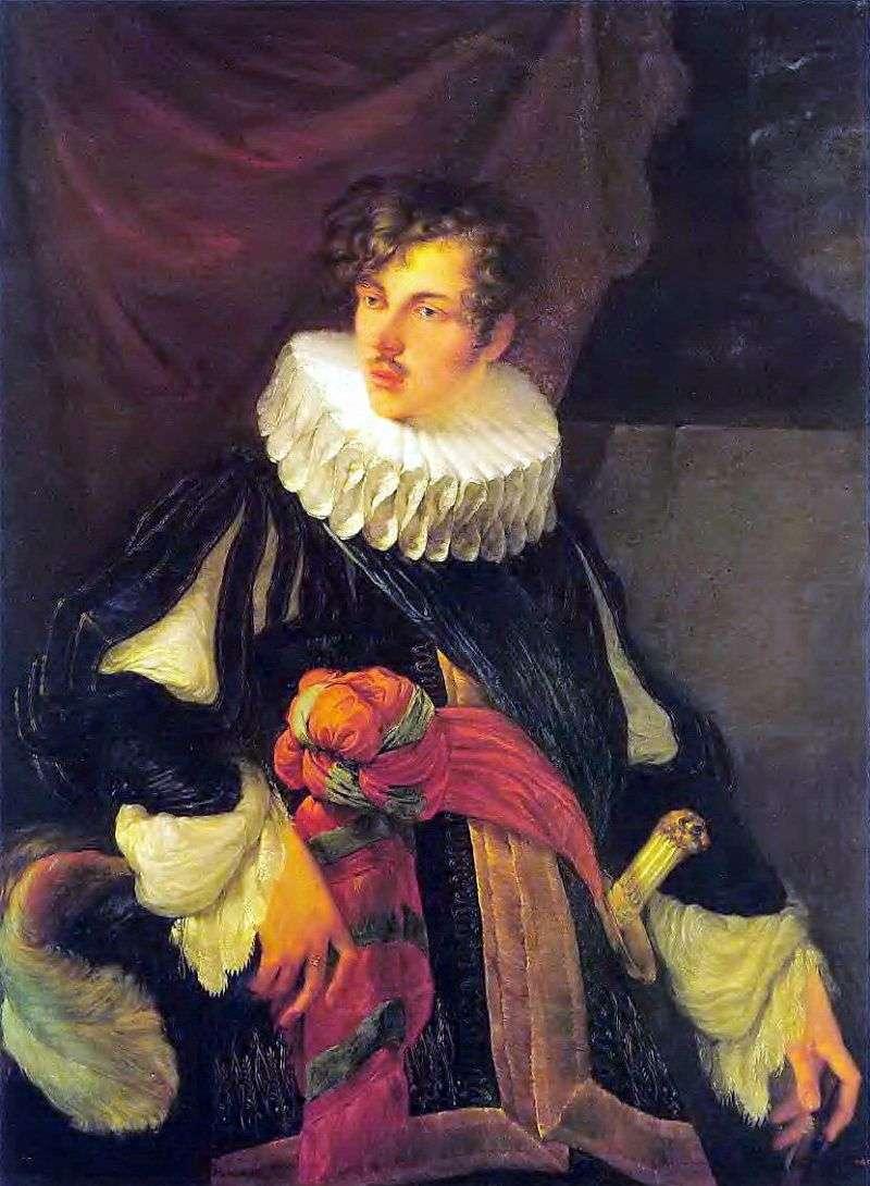 صورة ل. بيروفسكي في الأزياء الإسبانية في القرن السابع عشر   أوريست كيبرنسكي