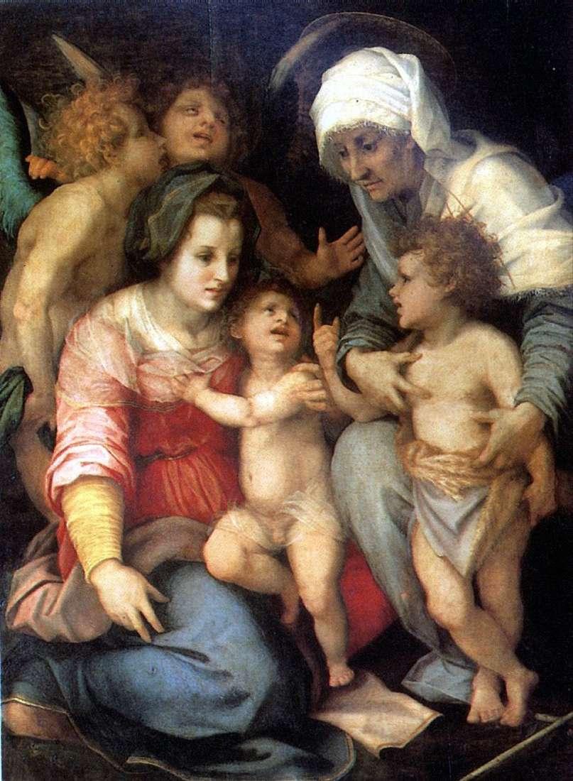 العائلة المقدسة مع الملائكة   أندريا ديل سارتو