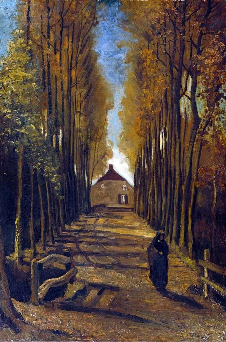 الحور زقاق في الخريف   فنسنت فان جوخ