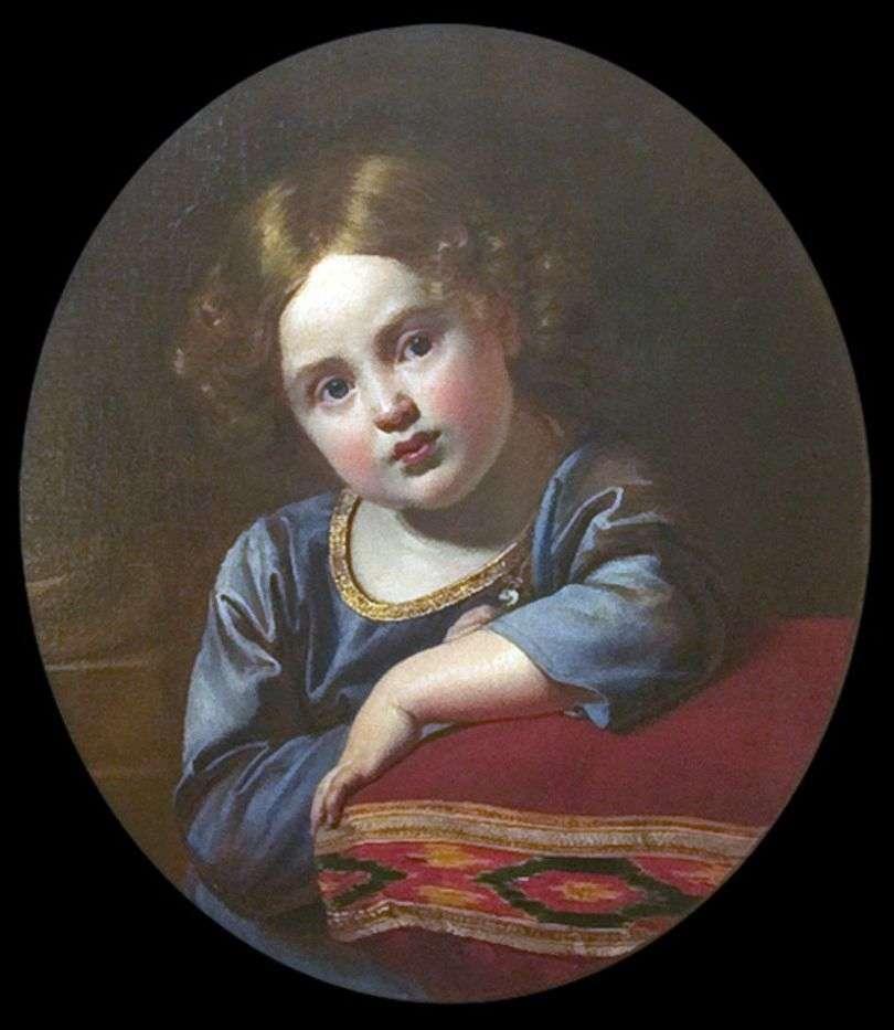 صورة ل E. G. Gagarin في مرحلة الطفولة   أوريست كيبرنسكي