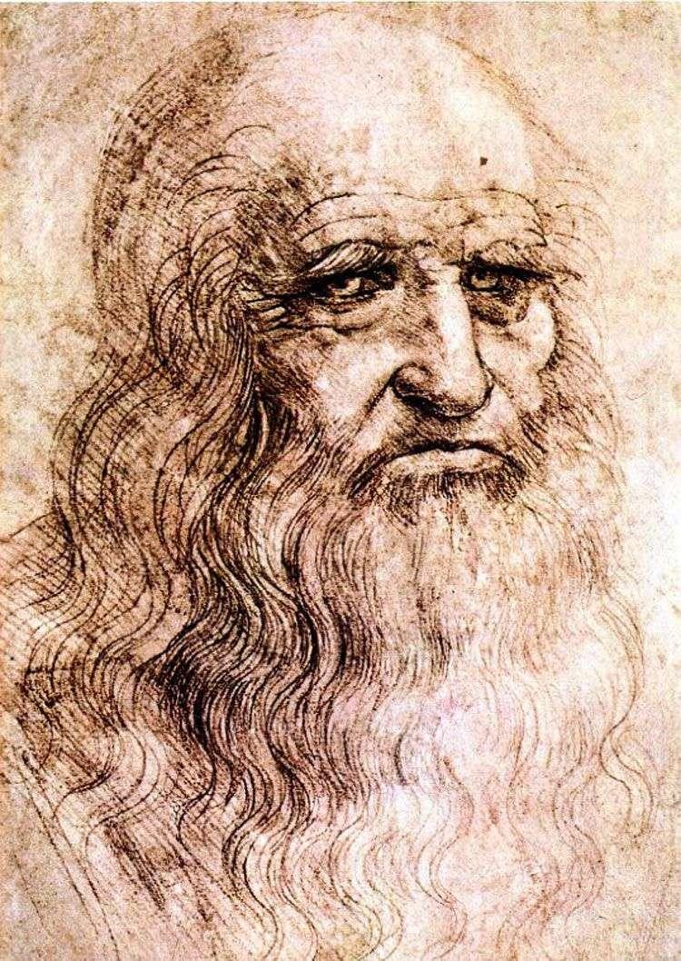 بورتريه ذاتي   ليوناردو دافنشي