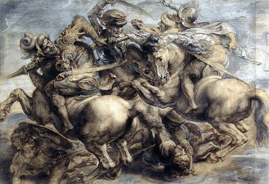 معركة Anghiari   ليوناردو دافنشي