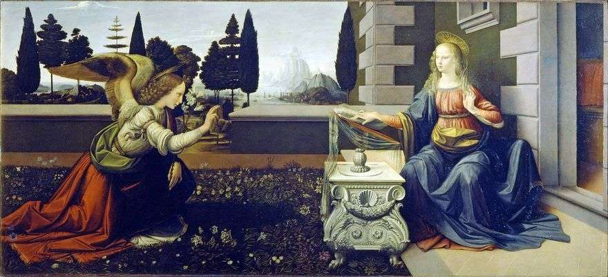 البشارة   ليوناردو دافنشي