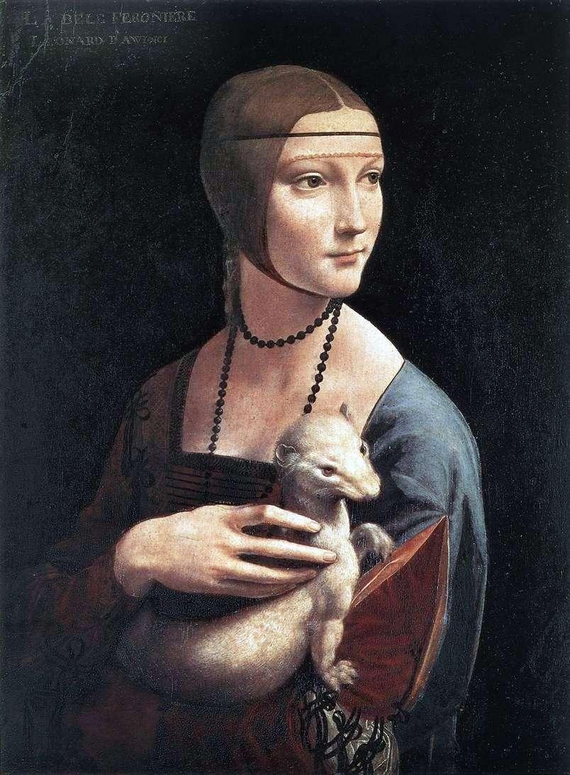 سيدة مع ermine   ليوناردو دافنشي