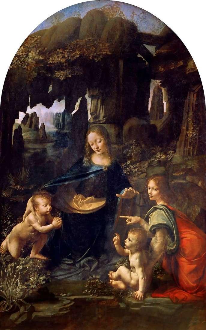 مريم العذراء في الكهف   ليوناردو دا فينشي