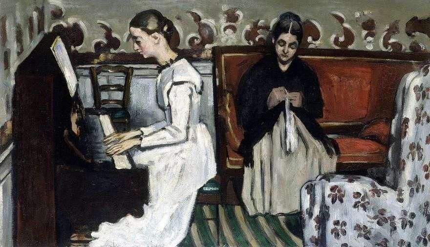 الفتاة في البيانو (مقدمة إلى Tannhäuser)   بول سيزان