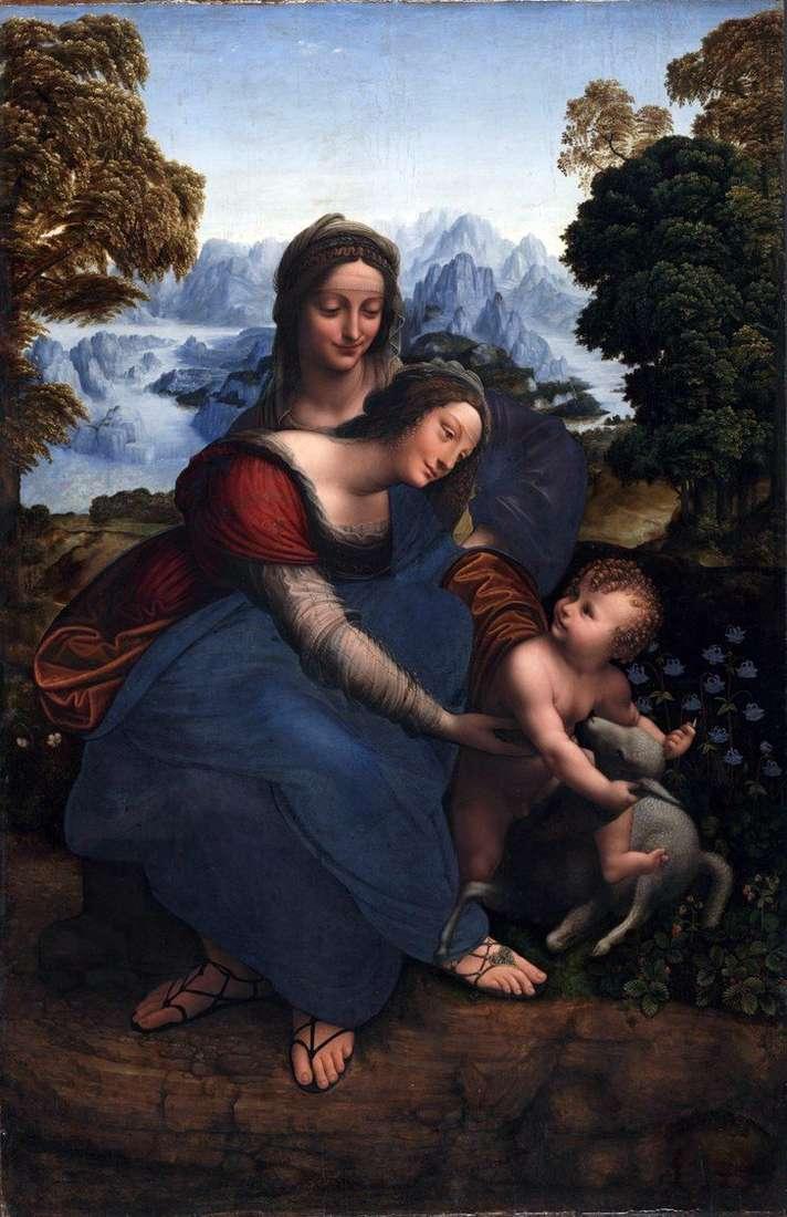 مريم العذراء مع طفل وسانت آن   ليوناردو دافنشي