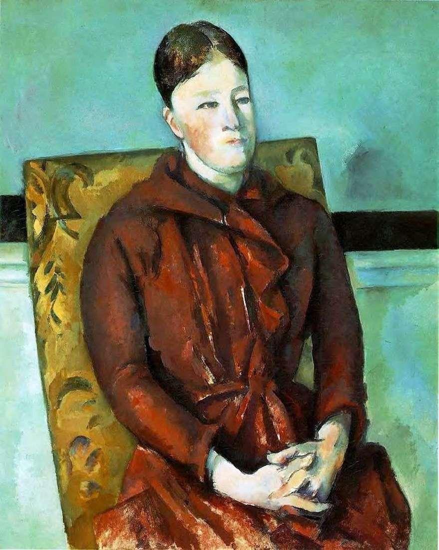زوجة الفنان على الكرسي الأصفر   بول سيزان