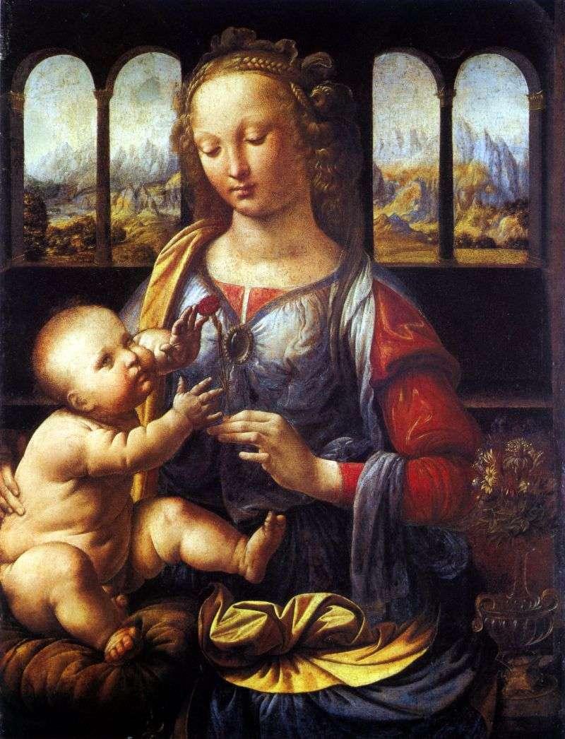 مادونا من القرنفل   ليوناردو دافنشي