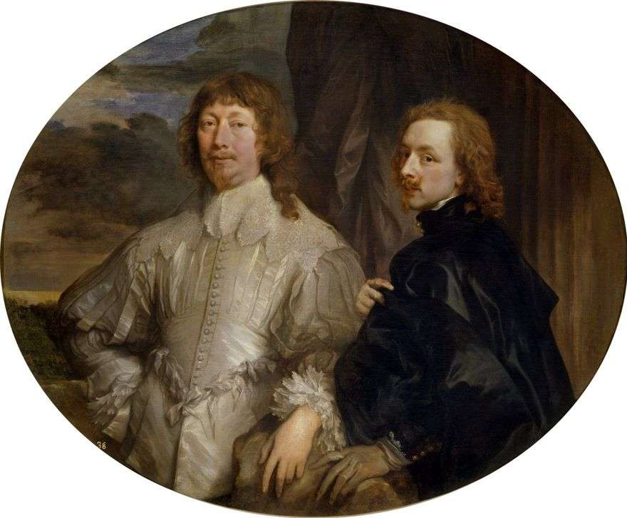 بورتريه ذاتي مع Sir Endimion Porter   أنتوني فان دايك