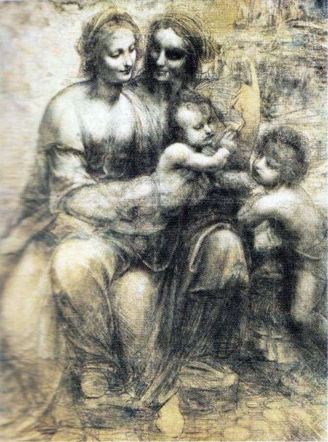 مادونا والطفل ، آنا وجون   ليوناردو دافنشي