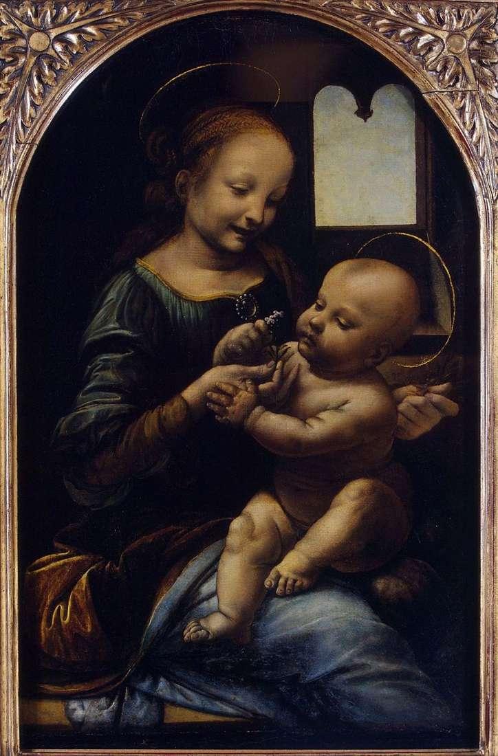 مادونا مع زهرة (مادونا بينوا)   ليوناردو دا فينشي