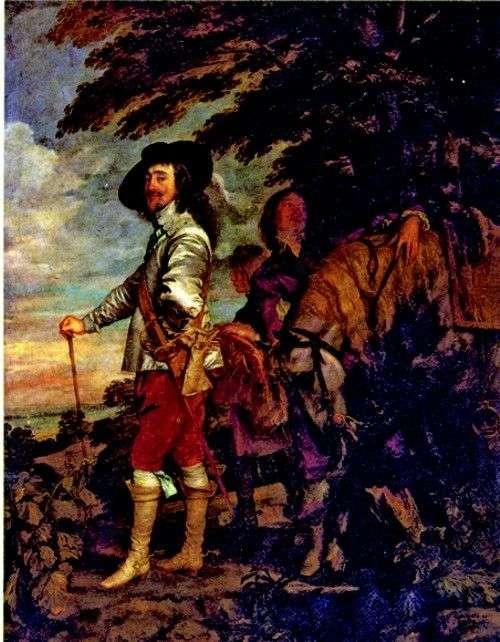 تشارلز الأول ، ملك إنجلترا ، في الصيد   أنتوني فان دايك